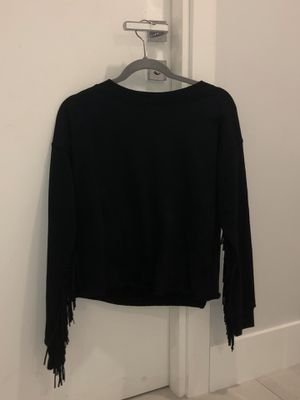 woman fringe black sweatshirt for Sale in Miami, FL
