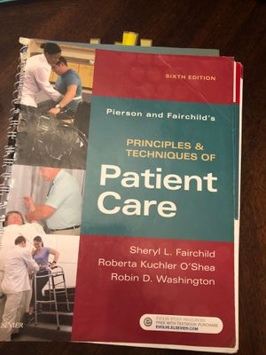 Pierson and Fairchild's Principles and Techniques of Patient Care 6th ed for Sale in Fort Lauderdale, FL