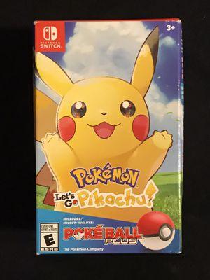 Nintendo Switch Game Pokémon Let's Go Pikachu Pokeball Plus for Sale in Phoenix, AZ