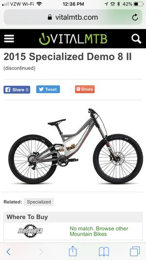 2015 specialized demo 8 downhill mountain bike for Sale in Claremont, CA