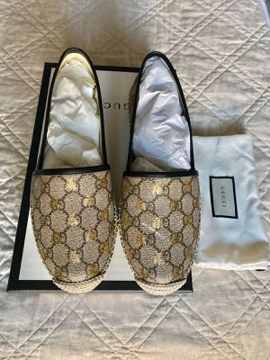 Authentic Gucci Pilar GG Bees Espadrilles 39.5 (NEW/NO SHIPPING) for Sale in Carrollton, TX
