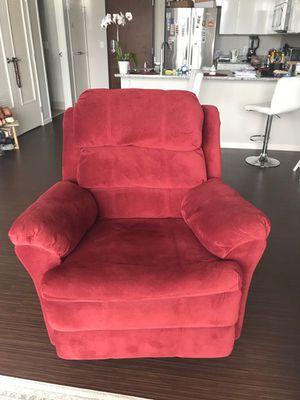 Red velvet recliner for Sale in NJ, US