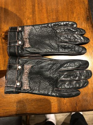 Harley Davidson woman leather gloves for Sale in Plano, TX