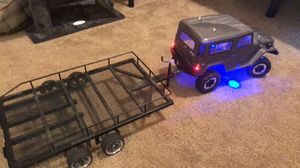 1/10 scale Rc crawler with a lot of parts and two trailers for Sale in Lumberton, TX