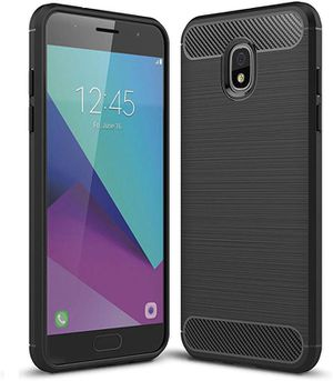 Samsung Galaxy J3 2018/J3 Achieve Case, Halnziye Non-Slip Shockproof Carbon Fiber Soft Rubber Protective Phone Case for Galaxy J3 Eclipse 2/J3 Orbit/ for Sale in Hacienda Heights, CA