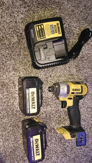 DeWalt 20 volt impact drill ,fast charger , 2 double stack battery for Sale in Tooele, UT