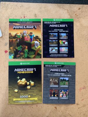 Xbox one Minecraft full game, 1k minecoins and 2 bonus add-ons for Sale in Charlotte, NC
