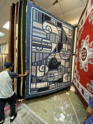 8x10 area Rugs carpet rugs modern design super thick tight pile colors navy white gray blue for Sale in Los Angeles, CA