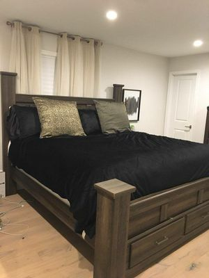 King bedroom set storage bed night stand mattress dresser media chest for Sale in Washington, DC