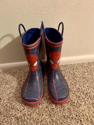 Spider-Man Rain Boots - Size 13 for Sale in Aloha, OR