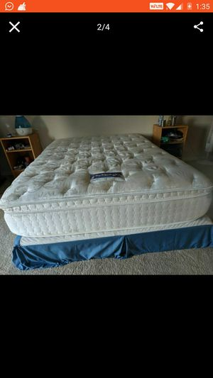Serta perfect sleeper queen mattress with box spring for Sale in Falls Church, VA