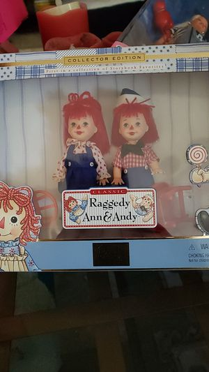 Collector's edition Barbie Kelly and Tommy raggedy Ann and Andy for Sale in San Jose, CA