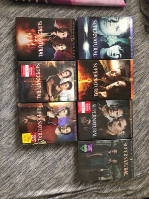 Supernatural dvd seasons 10 each for Sale in Orlando, FL