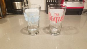 Collector Beatles Pint Glasses, pair for Sale in Tacoma, WA