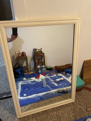 Classic heavy glass mirror for dresser or wall for Sale in Wenatchee, WA