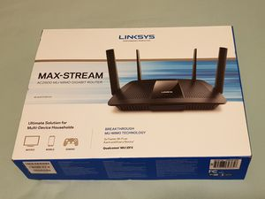 Linksys AC2600 4 x 4 MU-MIMO Dual-Band Gigabit Router with USB 3.0 and eSATA (Model: EA8500) for Sale in Renton, WA