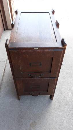 Antique Weis Furniture Co two-drawer oak file cabinet c1910 for Sale in Mesa, AZ
