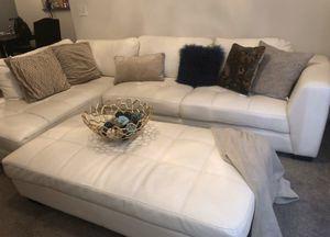 3 Piece Cream Leather Set for Sale in Jonesboro, GA