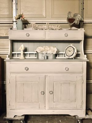 Shabby Chic Farmhouse Hutch for Sale in Rancho Cucamonga, CA