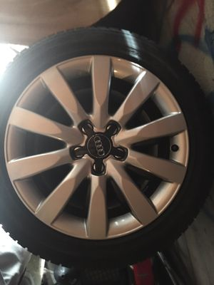 """Audi rims & tires 17"""" from my b8 a4. for Sale in Bel Air, MD"""