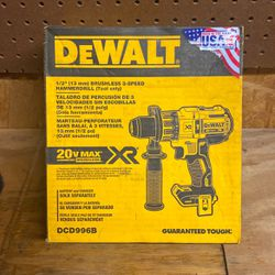DeWalt 1/2 Brushless 3-Speed Hammer Drill (Tool Only) for Sale in Cuba,  AL