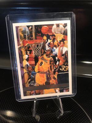 1997 Topps Kobe Bryant Basketball Card - Lakers Jersey 8 Black Mamba Memorabilia - RARE NBA Collectible - MINT - $14 OBO for Sale in Carlsbad, CA