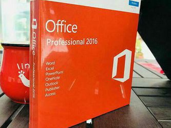 Microsoft Office Professional 2016 for Windows PC & Apple Mac for Sale in Fort Lauderdale,  FL