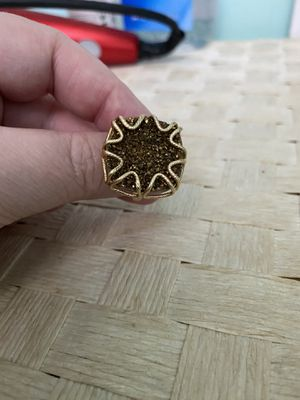 14k gold and druzy ring for Sale in Chesterfield, VA