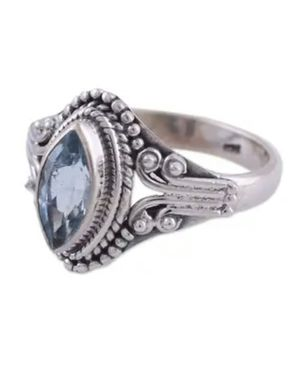 Blue Topaz and Sterling Silver Single Stone Ring from India for Sale in Wichita, KS