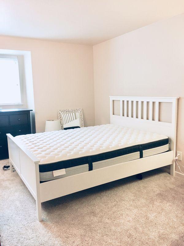 Ikea Hemnes Queen Bed Frame For Sale In Bellevue Wa Offerup