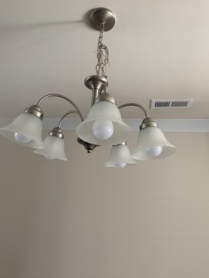 Chrome Chandelier and light for Sale in Indian Land, SC