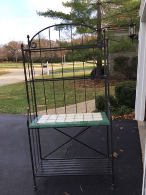 Wrought iron and ceramic top Bakers Rack for Sale in Lake Forest, IL