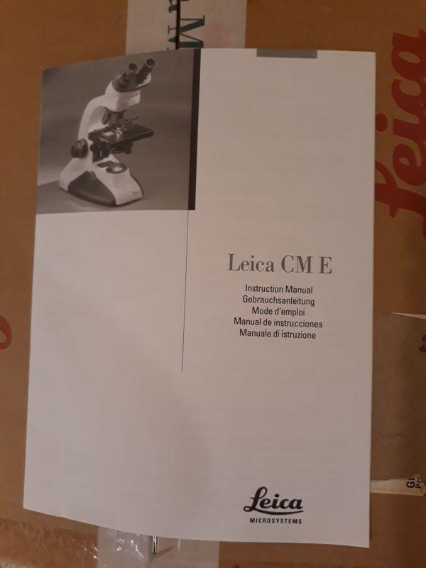 New Leica microscope