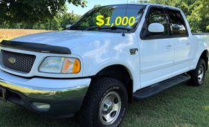 🟢💲1,OOO For sale my URGENTLY this Beautiful 2002 Ford F150 nice Family truck XLT Super Crew Cab 4-Door Runs and drives very smooth🟢 for Sale in Washington, DC