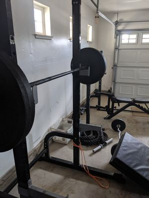 Squat Bench rack, 335lbs + 45lb bar, Marcy adjustable bench for Sale in San Diego, CA