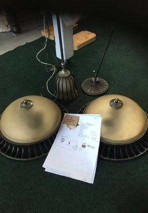 Uttermost lighting Lisbon Collection light fixtures/3 for Sale in Des Moines, WA