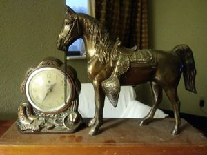 Steel horse antique clock for Sale in Berkeley, MO