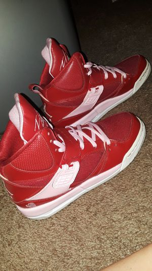 Red and pink flight jordan shoes for Sale in Perris, CA