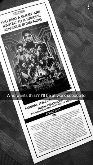 Black Panther Premiere and Advance screening‼️ for Sale in Nashville, TN