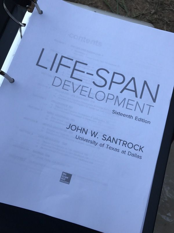Life Span Development 16th Edition Pdf Format In Black And White Psychology Book For Sale In Riverside Ca Offerup