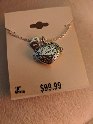 Love Double Heart Wish-Keeper Fine Silver Plated Locket for Sale in Manassas, VA