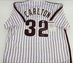 Steve Carlton Autographed Jersey w/COA JSA. for Sale in Vineland, NJ