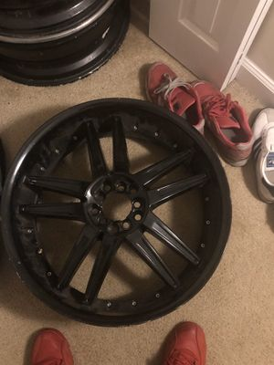 Black 20' rims x4 8' width for Sale in MONTGOMRY VLG, MD