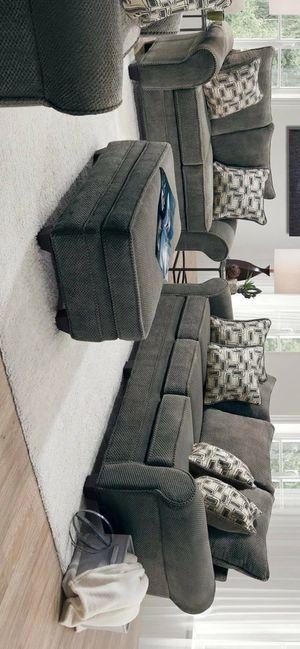 Nice Granite Sofa & Loveseat (Oversized) for Sale in Houston, TX