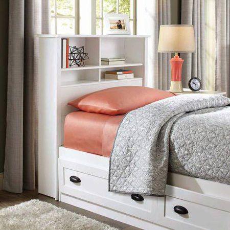 Headboard BHG Lafayette Bookcase Headboard only white Twin Size