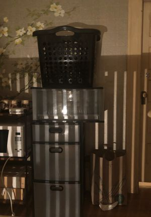Storage bins and hamper for Sale in Oakland, CA