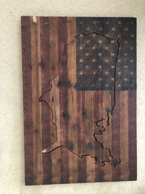 American Flag Wooden Wall Art for Sale in Fairfax, VA