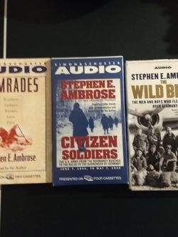 STEPHEN E. AMBROSE, Audiobooks On cassettes,....3 Complete audiobooks for Sale in Washington,  DC