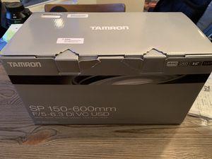 The Tamron SP 150-600mm f/5-6.3 Di VC USD (A011N) is a super-telephoto autofocus zoom lens for Nikon for Sale in Plant City, FL