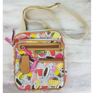 Lily Bloom Womens Crossbody Messenger Bag Pink Yellow Ice Cream Adjustable Strap for Sale in Avondale, AZ